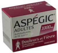 ASPEGIC ADULTES 1000 mg, poudre pour solution buvable en sachet-dose à PARIS