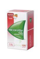 NICORETTE 2 mg Gom à mâcher médic sans sucre fruits Plq/105 à PARIS