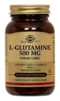 SOLGAR L-GLUTAMINE 500mg, 50 GEL VEG à PARIS