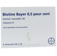 BIOTINE BAYER 0,5 POUR CENT, solution injectable I.M. à PARIS