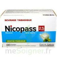 NICOPASS MENTHE FRAICHEUR 2,5 mg SANS SUCRE, pastille édulcorée à l'aspartam et à l'acésulfame potassique à PARIS
