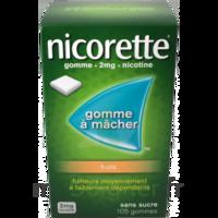 Nicorette 2 mg Gomme à mâcher médicamenteuse sans sucre fruits Plq/30 à PARIS