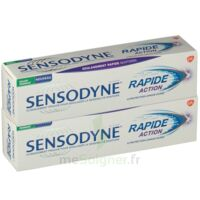 Sensodyne Rapide Pâte dentifrice dents sensibles 2*75ml à PARIS